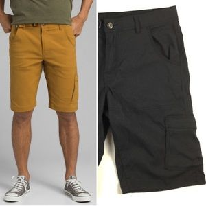 "PRANA Men's Stretch Zion 12"" Shorts Black 33"
